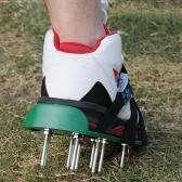 Rasenbelüfterschuhe 3 verstellbare Träger Hochleistungs-Sandalen mit Stacheln und Metallschnallen