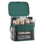 Caja organizadora de maquillaje Caja de almacenamiento de maquillaje a prueba de agua a prueba de polvo
