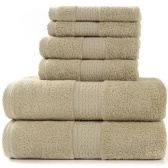 Paquete de 6 toallas de algodón 100% juegos de toallas de baño de lujo