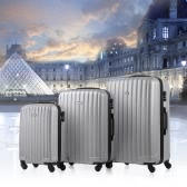 TOMSHOO 3 Piece Luggage Set-Silver