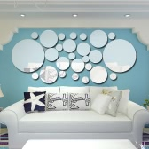 26pcs / set Acrílico Polka Dot Wall Mirror Stickers Decoración Decoración Decoración Decoración Decoración Decoración Decoración Decoración