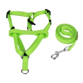 2pcs / Set Dog Harness & Leash Set Incluye arnés ajustable 1.2m Leash para caminar S / M / L Size para perros pequeños / medianos / grandes Material de silicona
