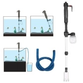 Électrique Aquarium Fish Tank Changeur d'eau Sand Washer Vide Siphon Operated Gravel Cleaner Aquarium Outil de nettoyage