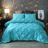 Bedding Set Silk Flower Pillowcase Bed Sheet