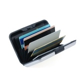 RFID Credit Card Holder with 6 Slots Large Capacity Aluminum Alloy Shell Scratch Resistant & Durable Credit Card Case Wonderful Gifts for Women Men