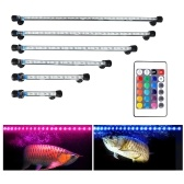 O cristal submergível da luz do aquário do diodo emissor de luz da luz do aquário ilumina a luz subaquática colorida do RGB