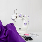 Anself Mini Household Purple Electric Sewing Machine 2 Speed Adjustment