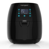 Homgeek Touch Control 3rd Generation Smart 2.4-Liter Fryer Basket Oil Free Air Fryer Black Stainless Steel Heating Tube Multi-functional Electric   Fryer Cooker Essential Household Electrical Appliances 220-240V