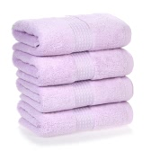 4pcs/set Multi-Purpose Cotton Soft Fast Absorbant Washing Towel Cleaning Wiping Cloth Washcloths Hand Towels for Home Hotel Kitchen Bathroom Toilet--White