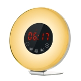 Wake Up Light Alarm Clock Sunrise/Sunset Simulation Digital Clock with FM Radio 7 Colors Night Light Nature Sounds Snooze Function Touch Control
