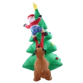 1.8m/70in Tall Inflatable Christmas Tree Santa Claus Dog Decor X