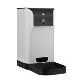 APP Alimentador automático de mascotas Dispensador de alimentos para gatos / perros Almacenamiento 6L con cámara Grabadora de voz Conexión wifi Compatible para iOS / Android