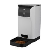 APP Automatic Pet Feeder Cat/Dog Food Dispenser 6L Storage with Camera Voice Recorder Wifi Connection Compatible for IOS/Android
