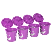 4pcs/set Reusable K-cup Coffee Capsule for Keurig 2.0 & 1.0 Brewing Machines Refillable Coffee Filters