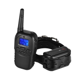 Dog Shock Training Collar Shock/Vibra/Beep/Lamp No Bark Collar 328yd Remote Waterproof Rechargeable for Large Medium Small Dog