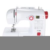 Decdeal Многофункциональная электрическая бытовая швейная машина с 30 шаблонами строчки Двойная резьба Регулируемая скорость Светодиодный дисплей Педаль ножной педали AC100-240V