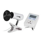 3pcs Terrarium Heat Emitter Set Includes 50W Ceramic Lamp Bulb & Lamp Holder & Temperature Controller Thermostat for Reptiles Turtles Lizards