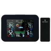 4.7 * 3 inches Color LCD Screen Wireless Weather Station Alarm Clock Indoor & Outdoor Thermometer Hygrometer Barometer