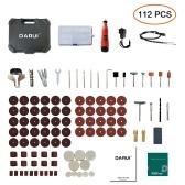 DARUI 12V Electric Grinder Set 112 ШТ. Аккумуляторная Бытовая Дрель Шлифовальный Набор Вращающихся Инструментов Электрические Инструменты Гравировки Ручной Шлифовальный Станок