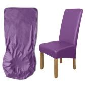 Esszimmerstuhl Schonbezug, High Stretch Abnehmbarer Stuhlbezug Waschbares PU-Leder Wasserdichter Stuhlsitzschutzbezug für die Hochzeitsfeier im Home Party Hotel