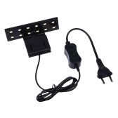 5W LEDs Fish Tank Aquarium Light 12pcs Beads Lampada con staffa dal design ultra sottile