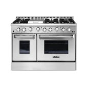 "THOR KITCHEN HRG4808U High-end Modern Style 48"" 6 Burner Gas Range with Double Oven Stainless Steel Excellent Kitchen Cooker"