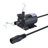 Compact Size Dual-Outlet Submersible Brushless Oil Water Pump Ultra-quiet Max. Lift 5M 450L/H DC 12V for Fish Tank Aquarium Fountain Circulating