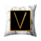 Federa per cuscino federa cuscino lettere dorate in marmo 45 * 45 cm