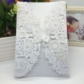 20Pcs Romantic Wedding Party Invitation Card Delicate Carved Flowers Decoration