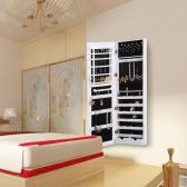 iKayaa Fashion Mirrored Bijoux Hanging Jewelry Armoire Cabinet Boîte de rangement Organizer dessus de la porte / Murale