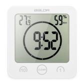 Multifunktionale Digitaluhr mit Großbildanzeige Zeit Temperatur Luftfeuchtigkeit Ausgezeichnete LCD Dusche Uhr mit Timer