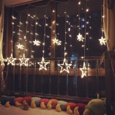 Fancy Star Curtain LED Light Romantic Fairy String Light para Dormitorio Boda Fiesta Fiesta de Navidad Festival Twinkle Decoration Light