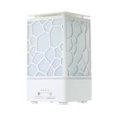 200ml Wasser Cube Mist Luftbefeuchter Aromatherapie Aroma ätherisches Öl Diffusor mit Timing Funktion Buntes LED-Licht für Home Office AC100-240V - Weiß