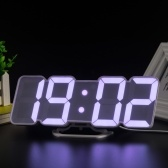 3D Wireless Remote Digital RGB LED Alarm Clock