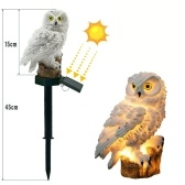 Owl Solar Light mit IP65-Wasserbeständigkeit des Sonnenkollektors für Garten-Patio-Yard-Hof-Weg