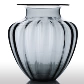 CASAMOTION moderne main soufflé grand pot en forme de verre Vase côtelé Art Home Design décoration florales