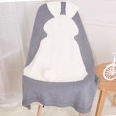 Симпатичные мягкие Теплые Новорожденный младенец кролика Одеяло Ванна Wrap Спящая пеленать Постельные принадлежности для диван-кровать