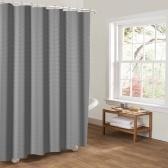 Htovila 72 * 72 '' Poliéster Impermeable a prueba de moho cortina de ducha Protección de privacidad decorativa Cortina de baño con 12pcs ganchos - Punto gris