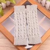 Winter Fashion Unisex, cieplejsze, dzianinowe rękawiczki bez palców z długim rękawem
