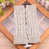 Зимняя мода Unisex Arm Warmer Fingerless Вязаные длинные перчатки Симпатичные рукавицы