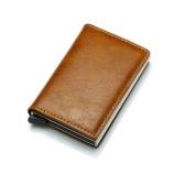 Titular de la tarjeta de crédito Vintage antirrobo de hombres bloqueando billetera Rfid