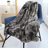 Long Fur Throw Blanket Micro Plush Velvet Fleece Blanket