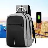 Zaino porta computer portatile antifurto da viaggio da 16 pollici con porta di ricarica USB e foro per le cuffie