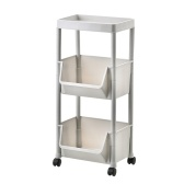 Storage Trolley Rolling Cart Kitchen Tier Wheel Storage  Rack