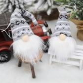 2ピースクリスマス装飾クリスマスツリー編み人形ペンダント
