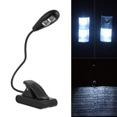 Portable Flexible Clip-on Music Stand LED Light Lamp 2 Levels of Brightness Fully Adjustable for Music Sheet  Book Reading
