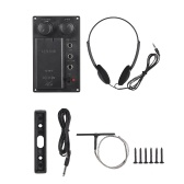 Electric Violin Piezo Pickup System Silent EQ with Headphone Audio Cable