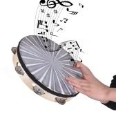 Hölzerne strahlende Tamburin-Handbell-Handtrommel