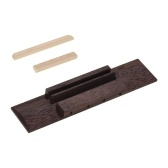 Ukulele DIY Parts Rosewood Bridge Plastic Saddle and Nut for 4-String Ukuleles