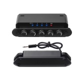 SKYSONIC R2 Acoustic Guitar Resonance Pickup with Magnetic Volume/ Mic Volume/ Delay/ Reverb/ Chorus Controls Phase Switch Built-in Rechargeable Battery for Classic Folk Guitars